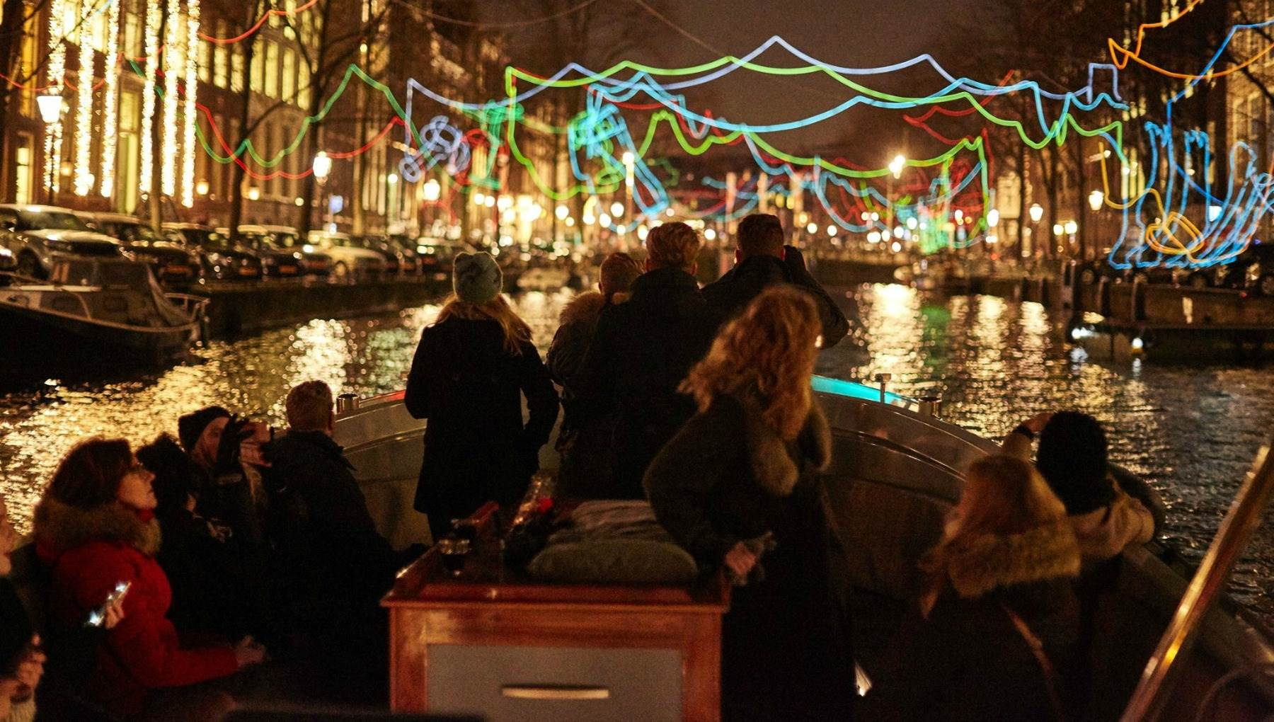 Amsterdam Light Festival open boat tour