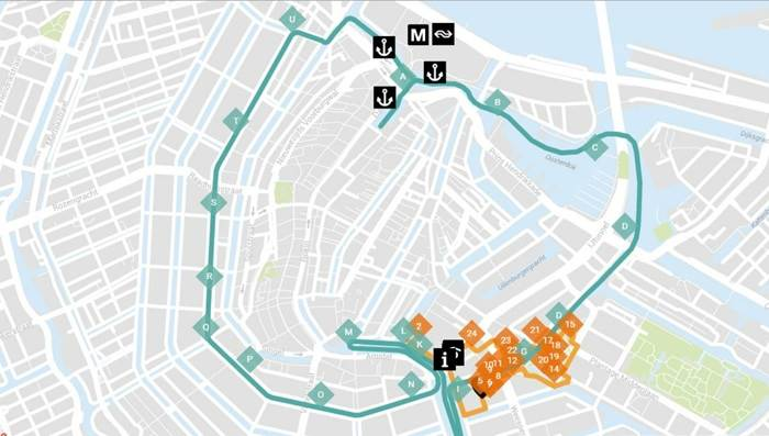 Amsterdam Light Festival 2015 map