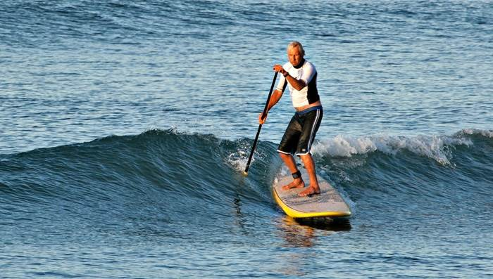 Stand up paddling Dave Young