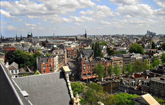 View from Westerkerk Amsterdam