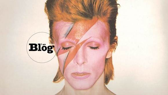 David Bowie pictured during his Aladdin Sane period