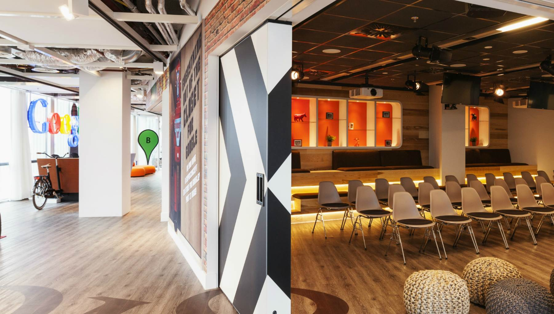 google amsterdam office. Designed By Amsterdam\u0027s Own D/DOCK, Google\u0027s Amsterdam Office Offers A Combination Of The Company\u0027s House Style And Dutch Inspiration. Google