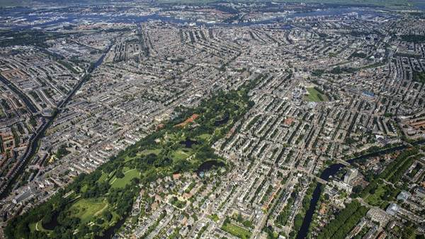 Amsterdam aerial photo Vondelpark