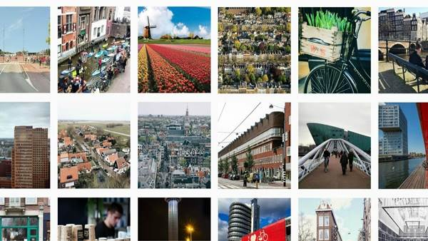 I amsterdam instagram collage
