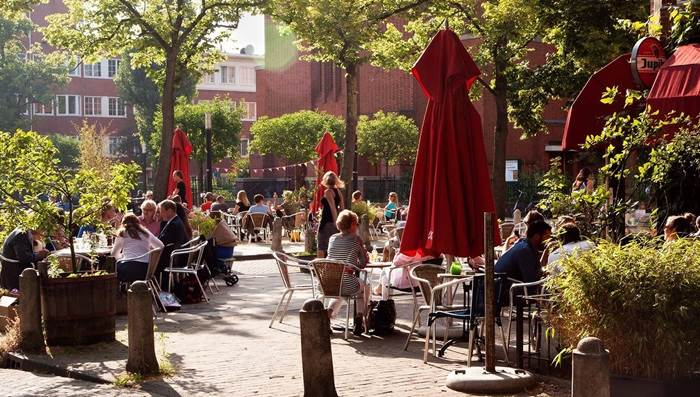 Cafe Cook Amsterdam west terras zomer