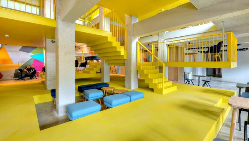Located In Amsterdam Noord Clinknoord Occupies The E Where A 1920s Laboratory Once Stood Rooms Are Sp But It S Communal Areas That
