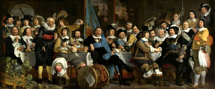 Banquet at the Crossbowmen's Guild in Celebration of the Treaty of Münster, Bartholomeus van der Helst, 1648