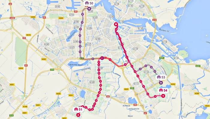 Travelling by metro – Amsterdam Travel Map