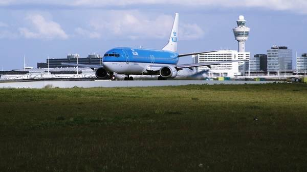 Amsterdam airport Schiphol KLM
