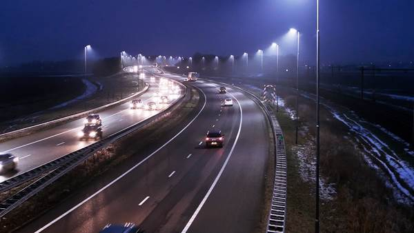 Amsterdam A4 highway night