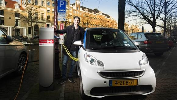 Amsterdam electric car charging station Paul Tolenaar
